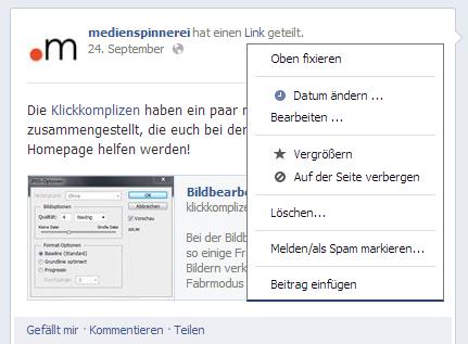 Beitrag nachträglich auf Facebook bearbeiten (1)
