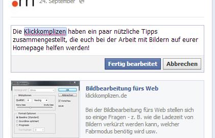 Beitrag nachträglich auf Facebook bearbeiten (2)