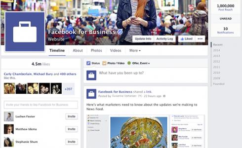 Redesign Facebook Seiten - Übersicht (Quelle Facebook)