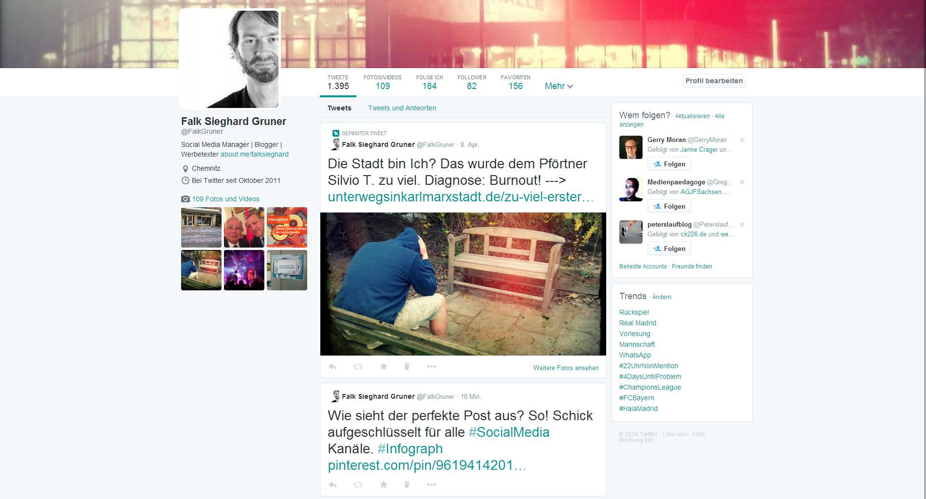 Twitter - Fixieren von Tweets im neuen Design