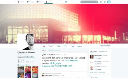 Twitter - das neue Profil Design