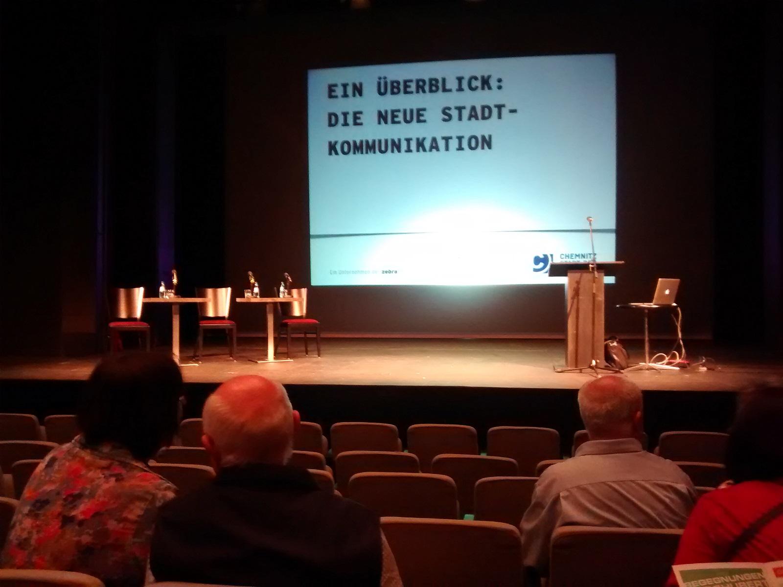 """Vorstellung der Kommunikatonskampagne von Chemnitz """"Die Stadt bin ich"""""""