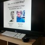 Kurz vor meiner Session mit Marcus - Social Media und SEO für Blogs