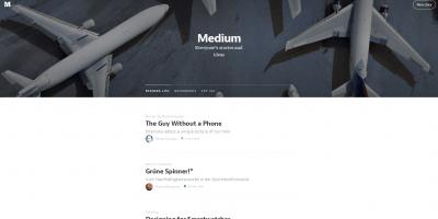 Medium Startseite (Screenshot)