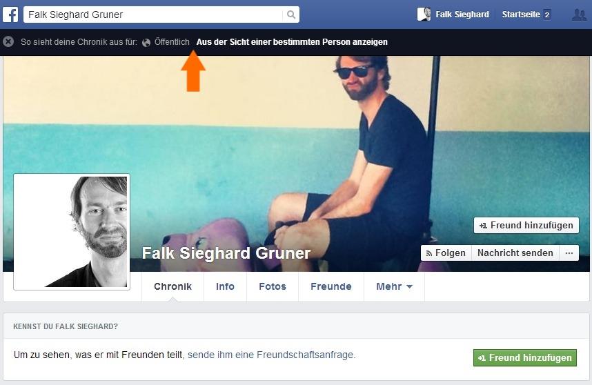 Wie sieht mein Facebook Profil für andere aus