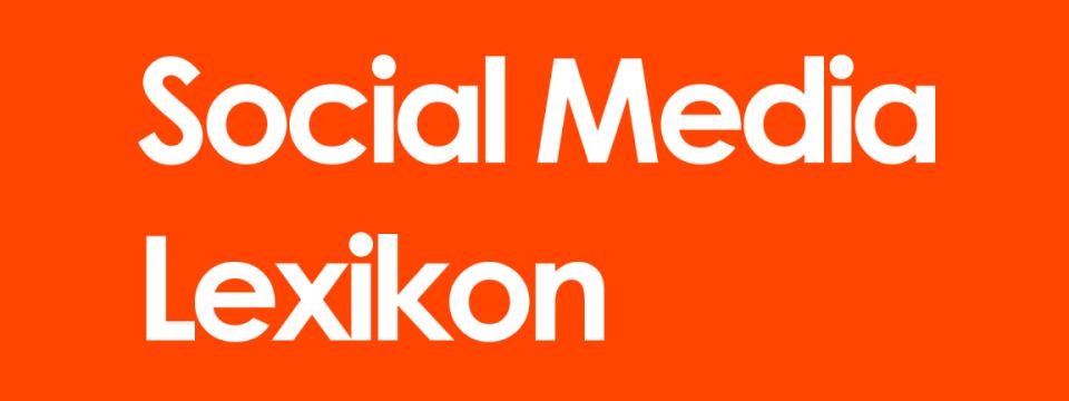 Social Media Lexikon - medienspinnerei
