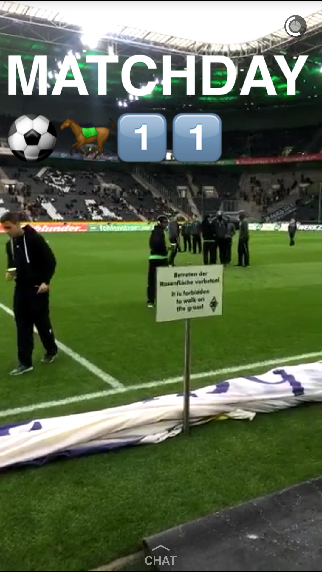 Snapchat Borusssia Mönchengladbach medienspinnerei